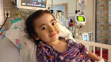 Julianna toward the end of her third hospitalization in October 2014.