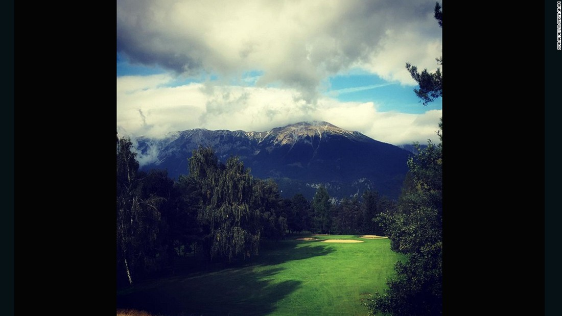 "Not a country with a rich golf history, Slovenia, nevertheless, provides one of the more dramatic backdrops on our list. Overlooked by the highest point of the Slovenian Alps, and often just below the clouds, <a href=""https://instagram.com/dragobilic/"" target=""_blank"">@dragobilic</a>'s submission is the only Slovenian course on Golf World Magazine's Top 100 European Golf Courses."