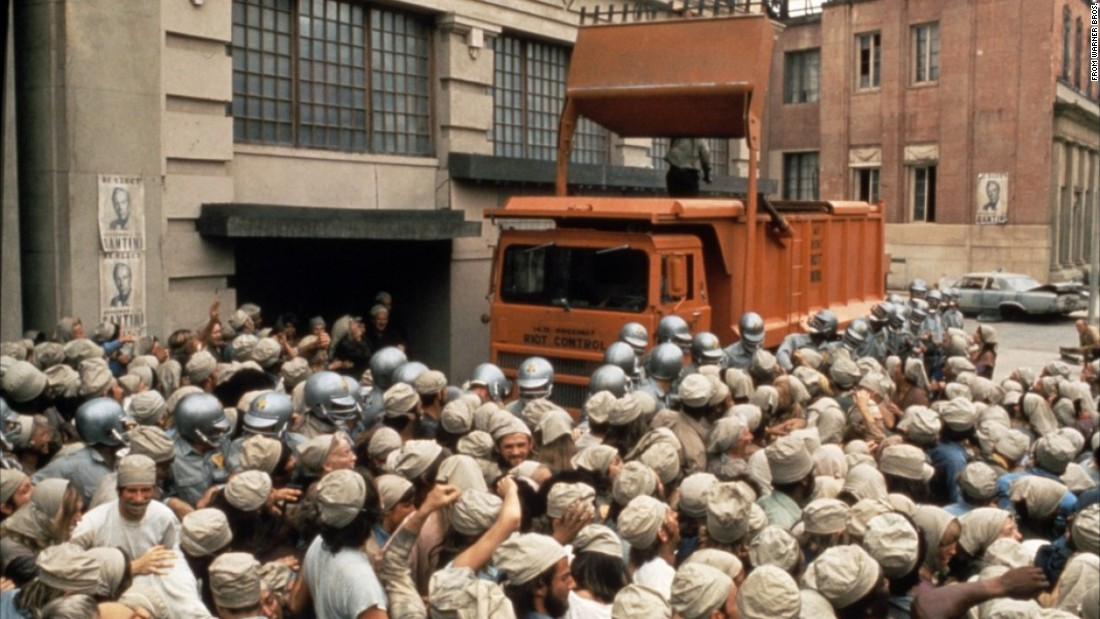 """Soylent Green,"" set in an overcrowded New York in 2022, shows a harsh dividing line between the few haves and the many very hungry have-nots. Charlton Heston starred in the 1973 film."
