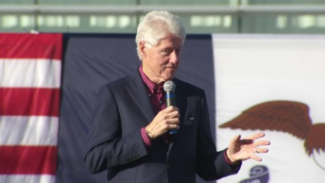 Bill Clinton makes first 2016 campaign trail appearance