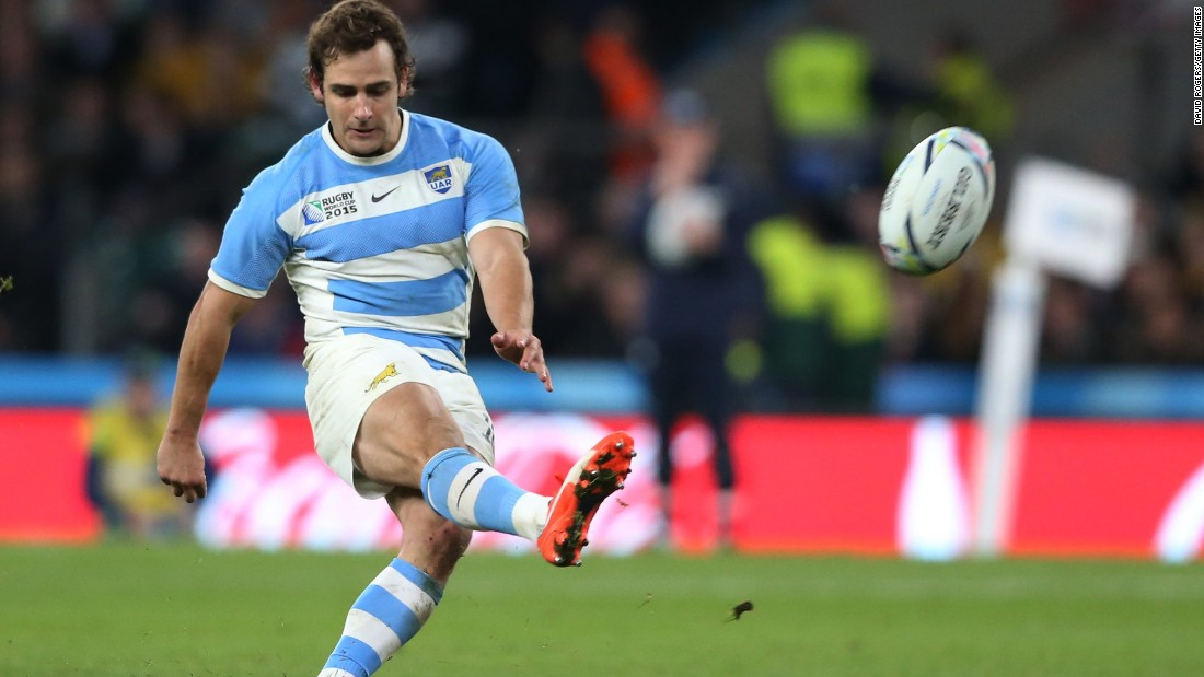 Nicolas Sanchez kept Argentina in touch with Australia with his five successful penalties but it was not enough.