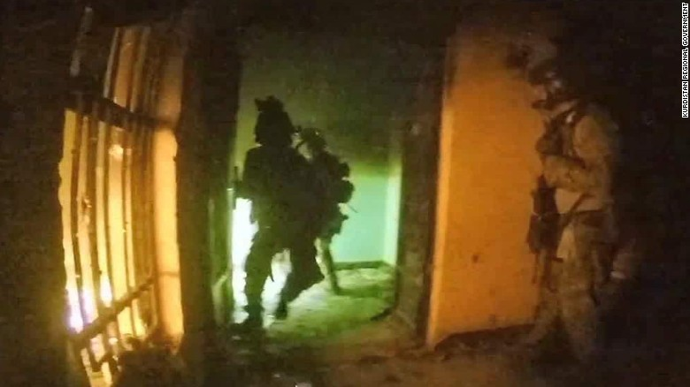 Video shows scenes from Iraq hostage raid