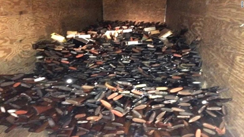 Sheriff: Nearly 10,000 guns seized in a raid