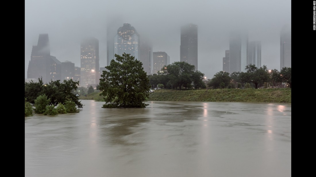 Photographer Max Burkhalter captured the scene in Houston as remnants of Hurricane Patricia brought torrential rains and flooding to much of Texas.