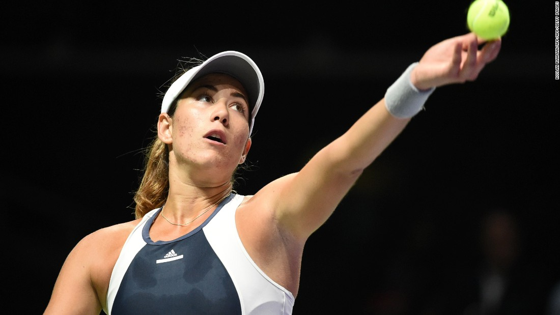 Spain's rising star Muguruza opened her White Group campaign with a 6-3 7-6 (7-4) win against Safarova of the Czech Republic on Monday.