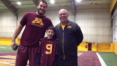 "The author's son, Billy Drash, suffers from epilepsy. Minnesota football coach Jerry Kill and Billy met last fall. ""The youngster, full of energy ... did a lot for me,"" Kill said."
