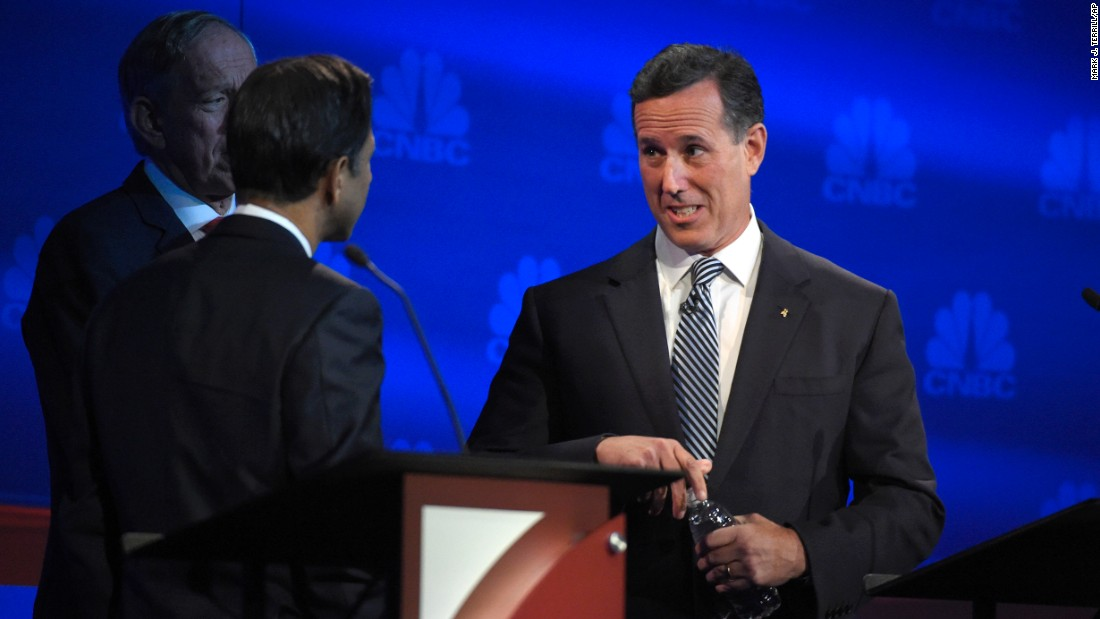 """A true conservative wants to create a level playing field,"" former Pennsylvania Sen. Rick Santorum said. ""That's what government is supposed to do. ... And when it comes to our manufacturers, the level playing field is not in the United States."""