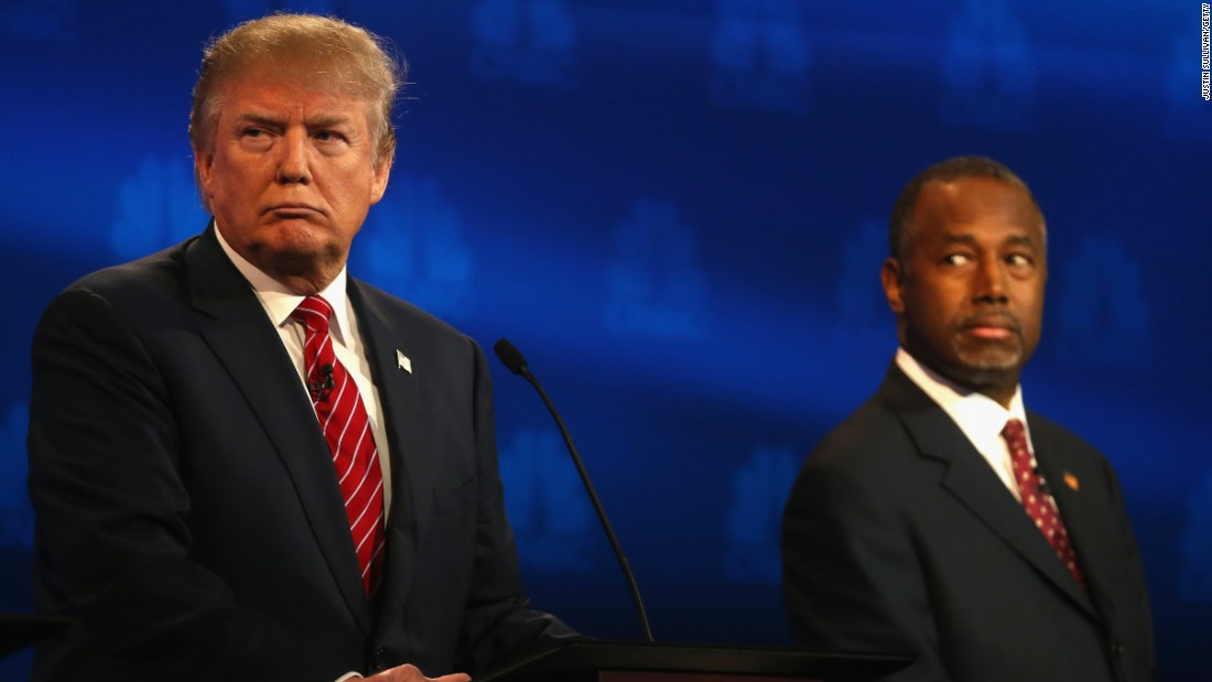 Trump hits Carson over stabbing story, talks about hosting 'SNL'