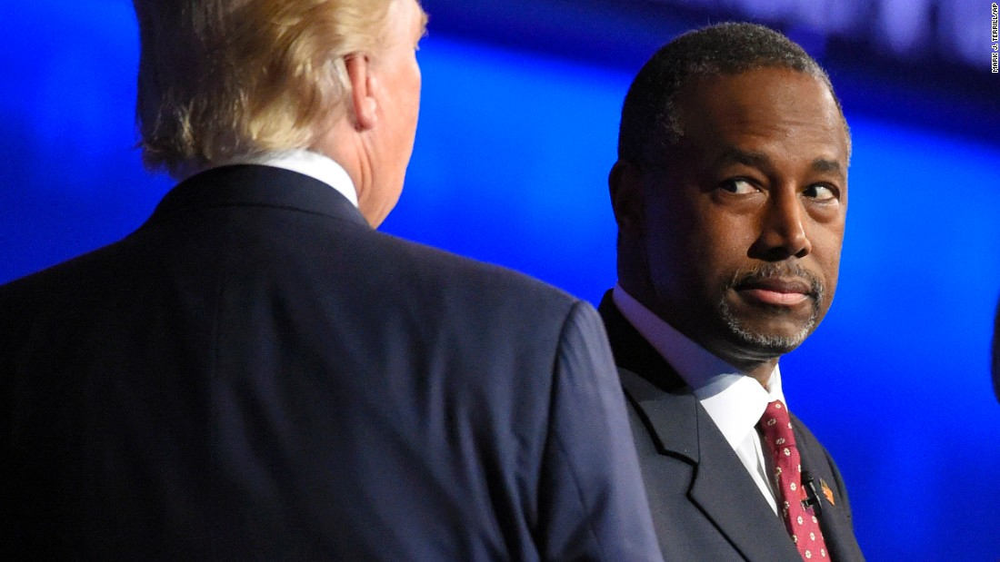 "The debate was Ben Carson's first since rising to the top of the polls. He slammed ""PC culture"" and said the idea that a person who believes marriage is between a man and a woman is a homophobe was ""one of the myths the left perpetrates on our society."""