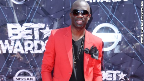 FILE - In this June 28, 2015 file photo, Sam Sarpong arrives at the BET Awards at the Microsoft Theater, in Los Angeles. The London-born model and TV actor Sarpong has died in Southern California after jumping to his death from a bridge. Sarpong, who was 40, died Monday afternoon, Oct. 26, 2015, in Pasadena, where he lived. (Photo by Richard Shotwell/Invision/AP/File)