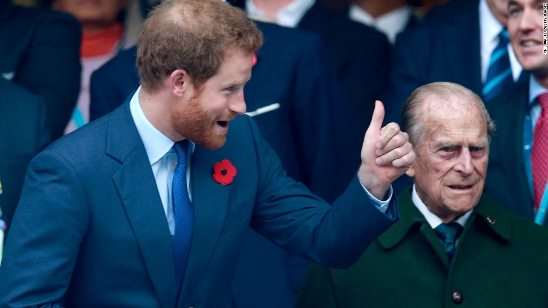 By Royal command. Prince Harry and the Duke of Edinburgh enjoyed the proceedings at Twickenham.