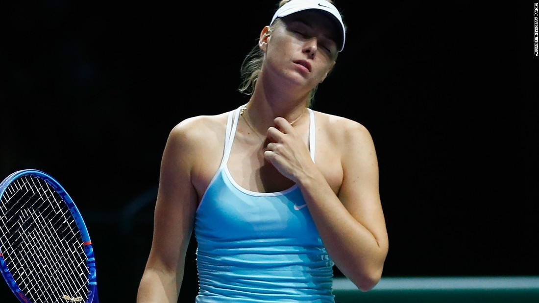Sharapova of Russia looks dejected after slipping to a shock defeat to Kvitova in the semifinals.