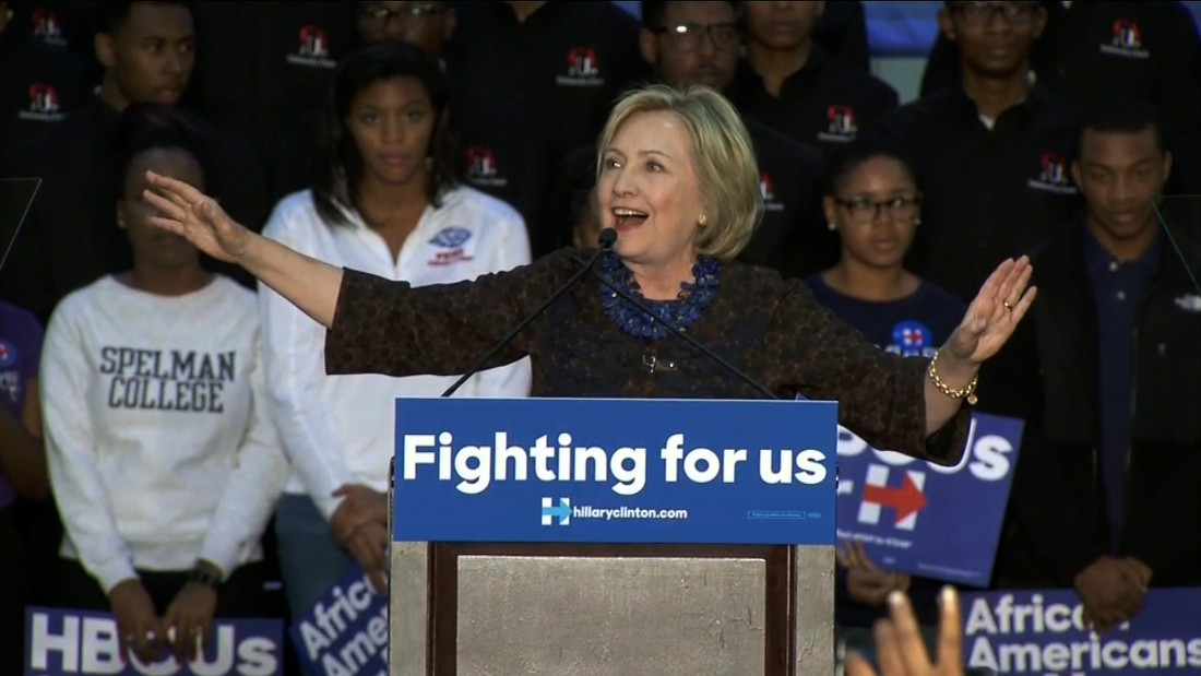 Hillary Clinton protested by Black Lives Matter