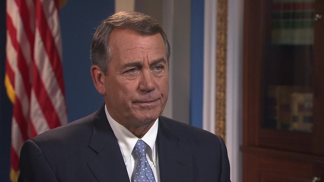 Boehner: 'Thank God I'm not in the middle of this'