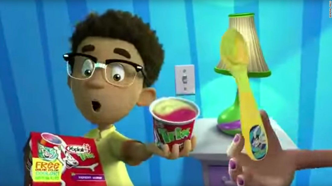 "Children ages 6 to 11 saw an average of 18.6 ads for <a href=""https://www.youtube.com/watch?v=PwxQtd3Mldw"" target=""_blank"">Yoplait Trix yogurt</a> in 2014, researchers said.<br />"