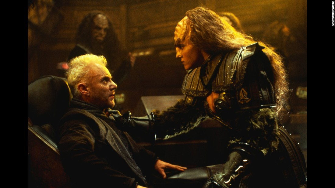 "The official passing of the torch took place in the 1994 film ""Star Trek: Generations,"" with Malcolm McDowell, left, as the villain. Captain James T. Kirk died with Picard, his successor, at his side. The movie ultimately received mixed reviews."