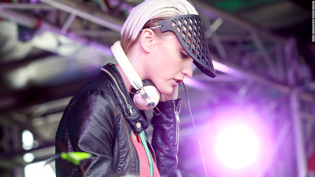 DJ Nussy was on the decks as she entertained the crowds at Flemington.