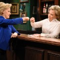 Kate McKinnon as Hillary Clinton and Hillary Clinton as Val