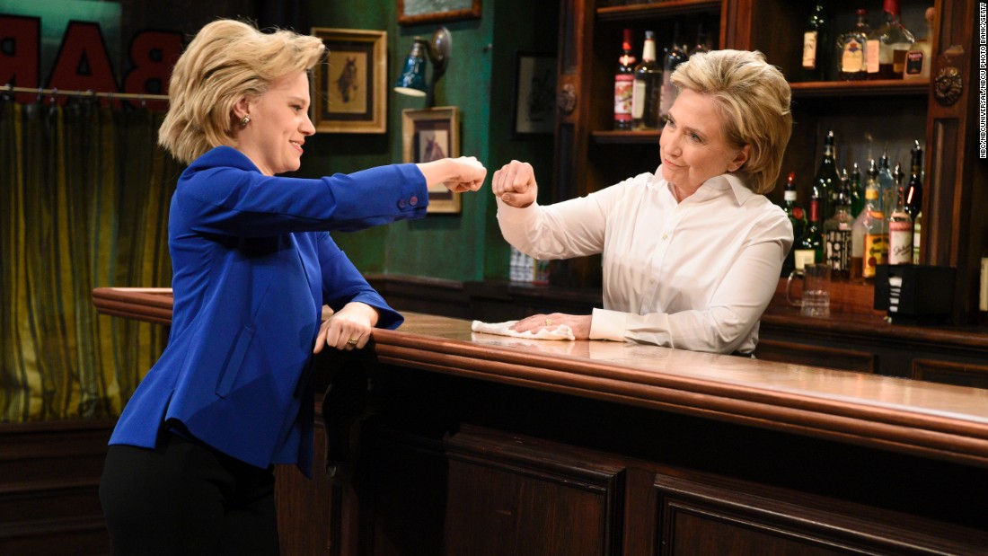 "Actress Kate McKinnon recently caught the notice of the political and entertainment worlds with her parody of Hillary Clinton on ""Saturday Night Live."" The two even appeared together in an October sketch. Click through to see the storied history of ""SNL"" and political parody."