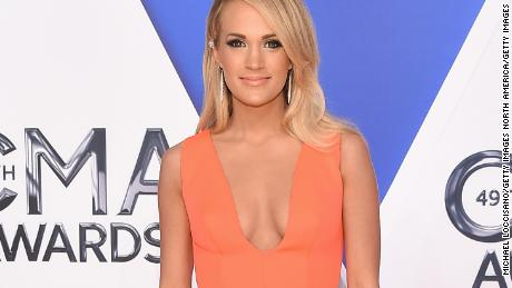 NASHVILLE, TN - NOVEMBER 04:  Singer-songwriter Carrie Underwood attends the 49th annual CMA Awards at the Bridgestone Arena on November 4, 2015 in Nashville, Tennessee.  (Photo by Michael Loccisano/Getty Images)
