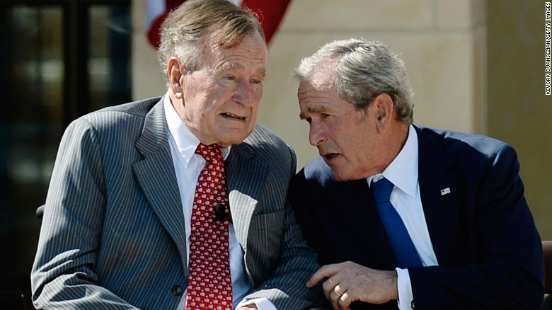 George H.W. Bush calls Trump a 'blowhard'