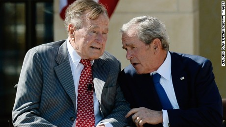 Former Presidents H.W. and W. Bush denounce racism in wake of Charlottesville