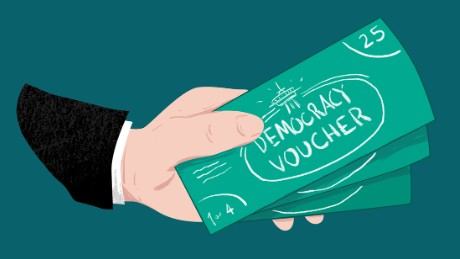 democracy vouchers seattle llustration mullery