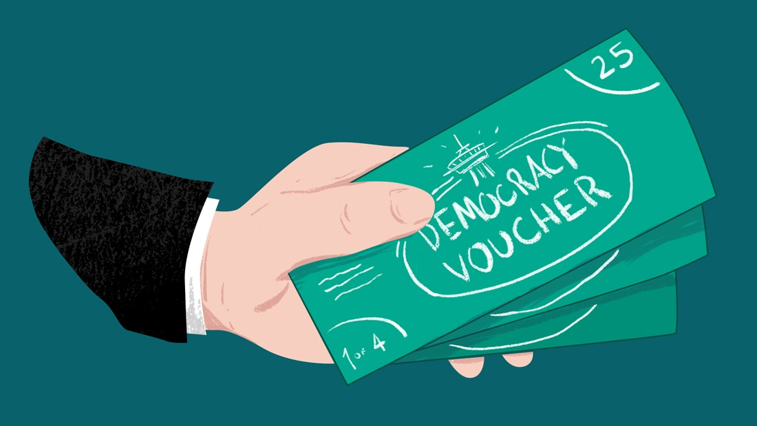 A new way to reform: 'Democracy vouchers' vs. Citizens United