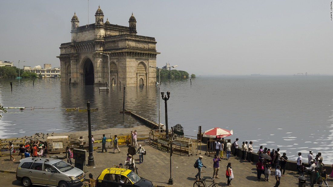 Parts of Mumbai could flood if temperatures rise by two degrees, according to the report.