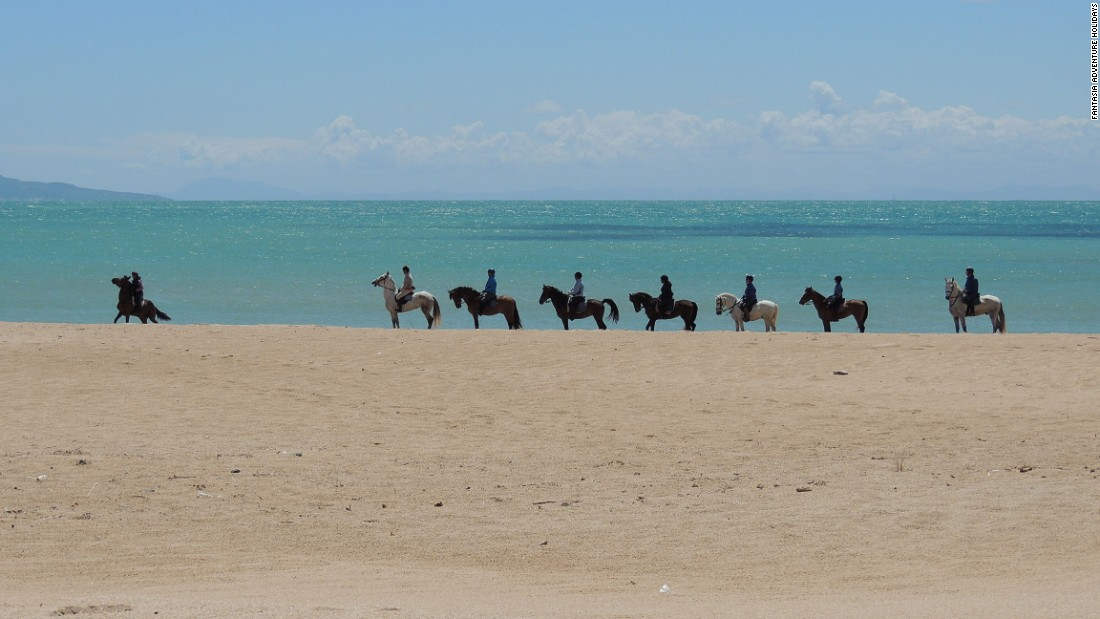 If lying on a beach doesn't appeal, then why not try riding along one? Fantasia Adventure Holidays offers treks for experienced riders from its base in the province of Cadiz.