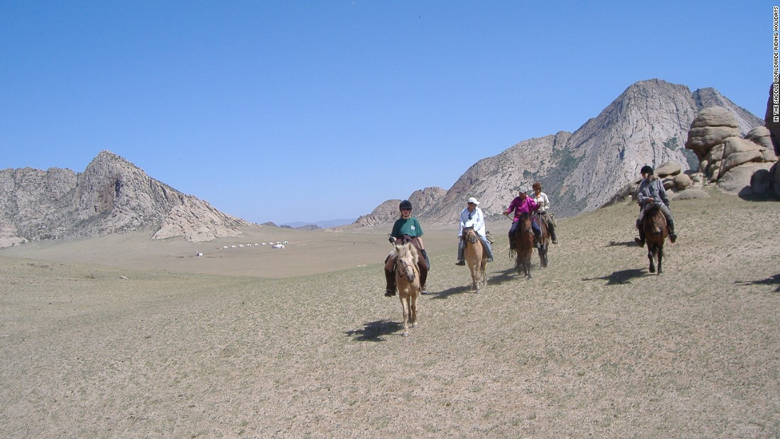 "Riding across the vast Mongolian wildernesses is a pleasure that future generations might not get to experience, Sales thinks. ""Places like Mongolia are changing so quickly -- they've already got mobile phones and satellite dishes, so I don't know how long it's going to be like that,"" he says."