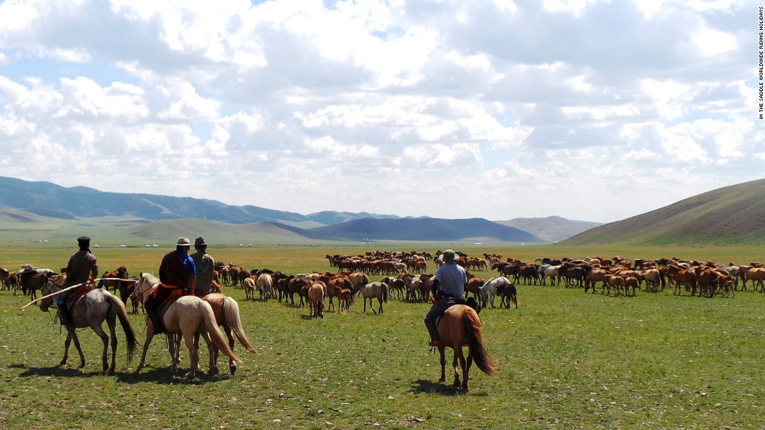If you're after a more remote holiday, then Mongolia could be the perfect riding destination.