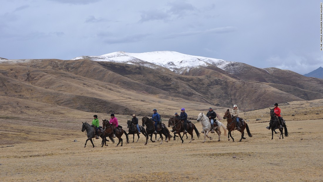 Riding through the Andes on a Peruvian Paso is one of the great wild equine adventures, with widescreen views of snow-capped mountains.