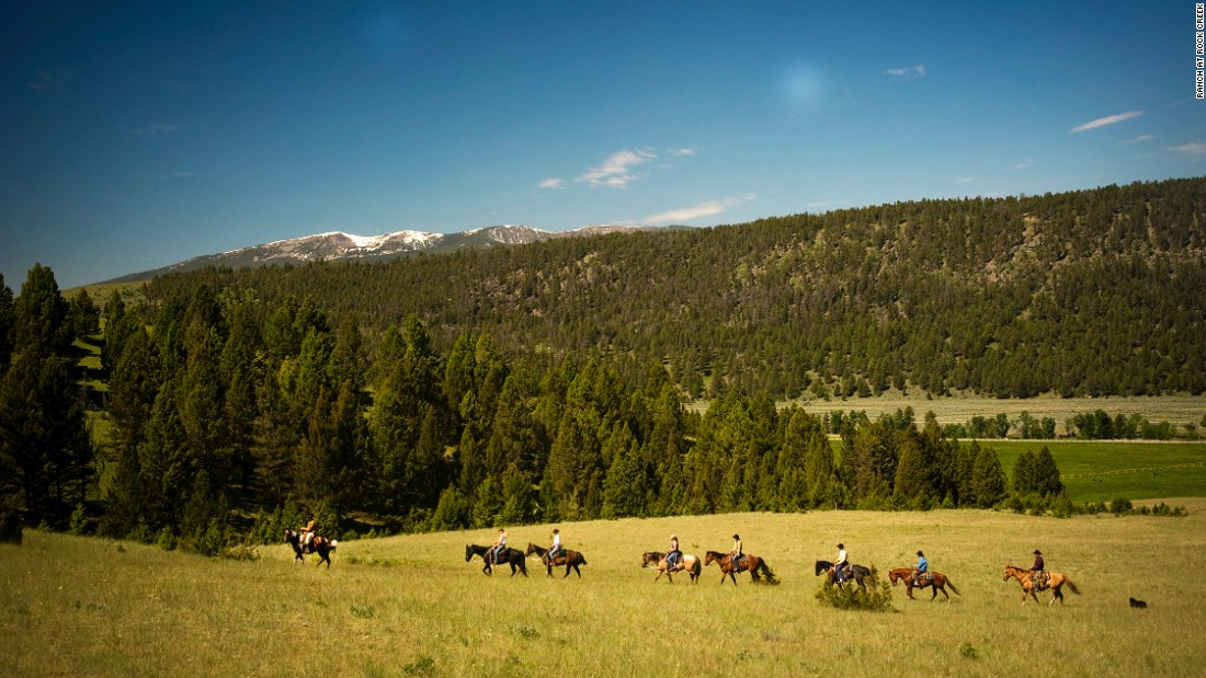 The Ranch at Rock Creek has about 75 horses, so you can live out your cowboy dreams for real.