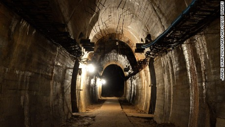 "Underground galleries, part of Nazi Germany ""Riese"" construction project are pictured under the Ksiaz castle in the area where the ""Nazi gold train"" is supposedly hidden underground, on August 28, 2015 in Walbrzych, Poland. Poland's deputy culture minister on Friday said he was 99 percent sure of the existence of the alleged Nazi train that has set off a gold rush in the country. AFP PHOTO / JANEK SKARZYNSKI        (Photo credit should read JANEK SKARZYNSKI/AFP/Getty Images)"