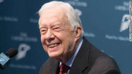 Former President Jimmy Carter discusses his cancer diagnosis during a press conference at the Carter Center on August 20, 2015 in Atlanta, Georgia.