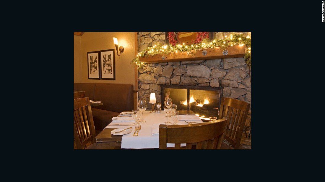 "The cozy dining room of Whistler's <a href=""http://rimrockcafe.com/"" target=""_blank"">Rimrock Cafe</a>, which was established in Canada's most famous ski resort in 1987 and specializes in local fish and game."