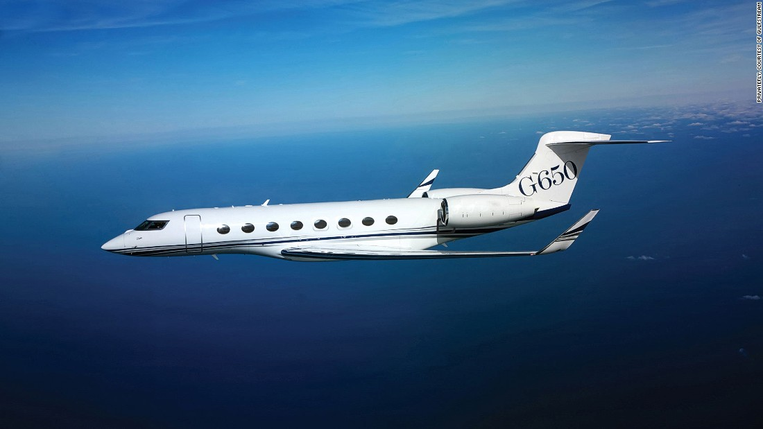 Passengers will be ferried to the Caribbean on-board a G650, Gulfstream's biggest and fastest business jet. Director Peter Jackson and inventor James Dyson both have one of these elite airplanes.