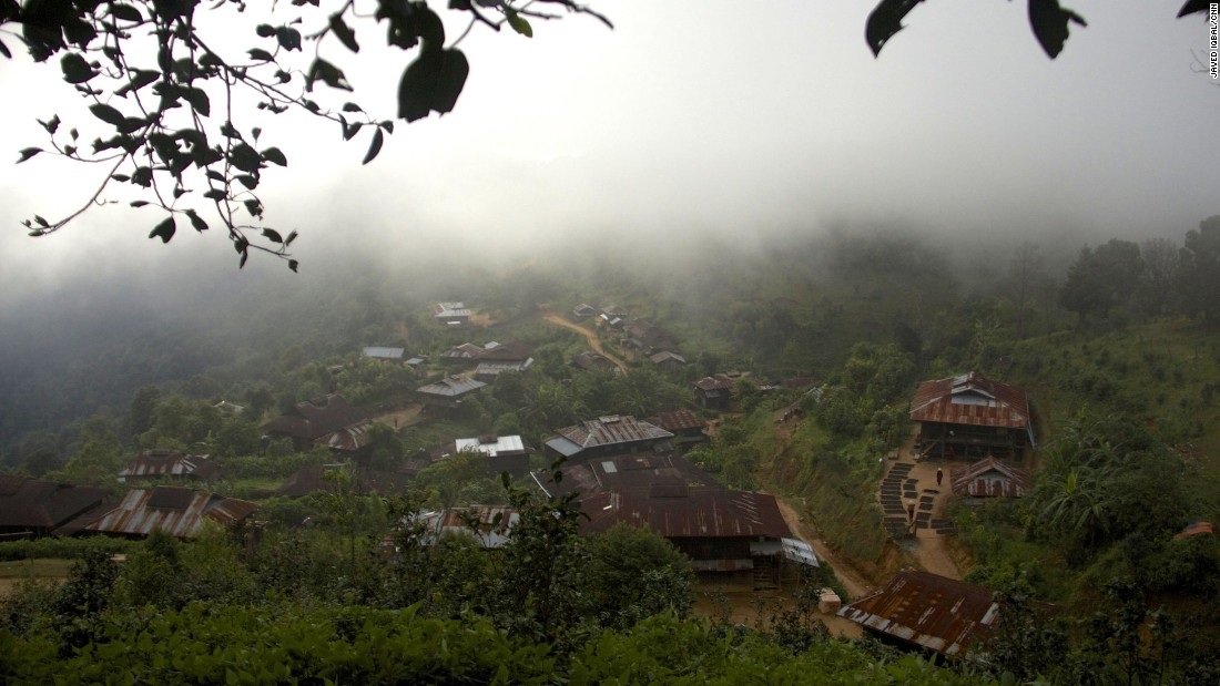 The mist-covered village of Pang Law sits on a mountain peak in Shan State.