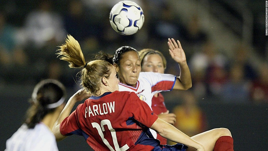 "But the rising star's career was cut short after she suffered several concussions in matches spanning from 2001 to 2004. She's now the face of ""<a href=""http://concussionfoundation.org/national-initiatives/safer-soccer"" target=""_blank"">Safer Soccer</a>,"" which campaigns to raise the minimum age of heading the ball to 14 years old."