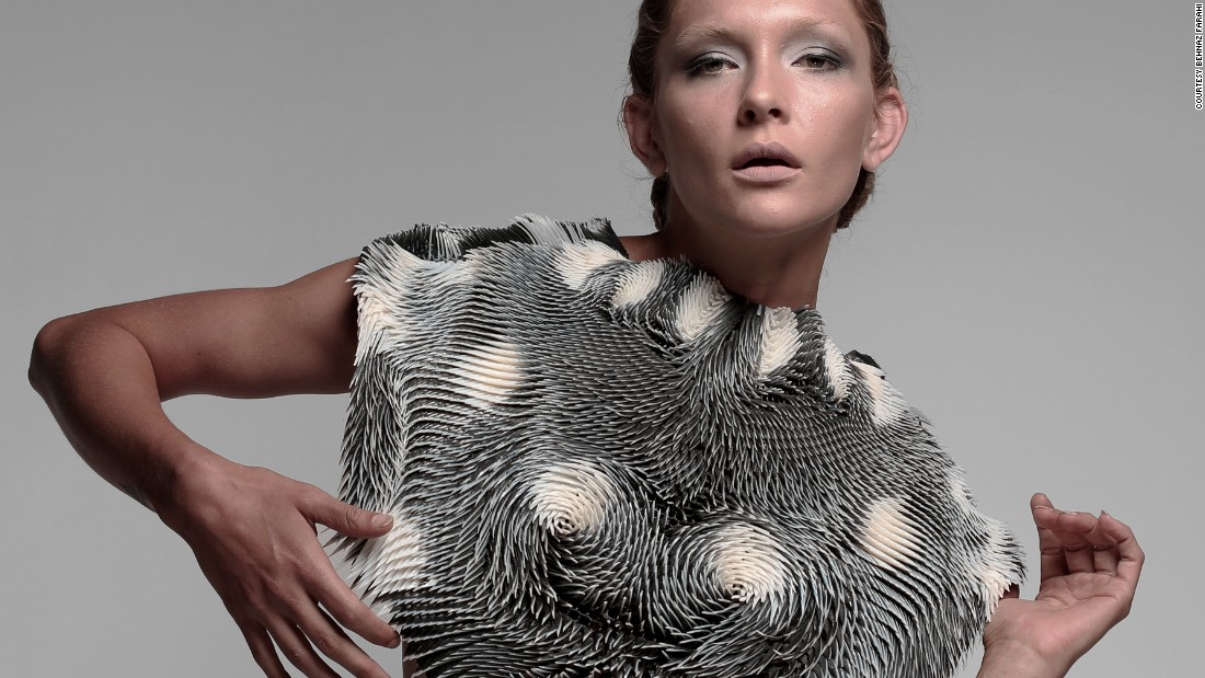 Eyes off: The 3-D printed cape that warns you when you're being watched