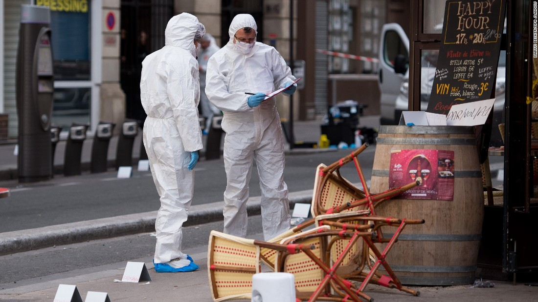 a forensic scientist works near a paris cafe on saturday november 14 following a - Glass Sheet Cafe 2015