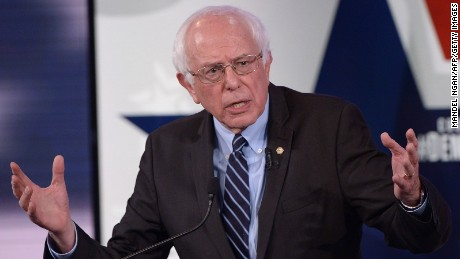 Democratic Presidential hopeful Bernie Sanders speaks during the second Democratic presidential primary debate in the Sheslow Auditorium of Drake University on November 14, 2015 in Des Moines, Iowa.