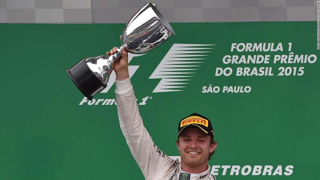 Rosberg won the penultimate race of the 2015 F1 season, the the Brazilian Grand Prix at Interlagos, Sao Paulo, to seal second place in the drivers' standings.
