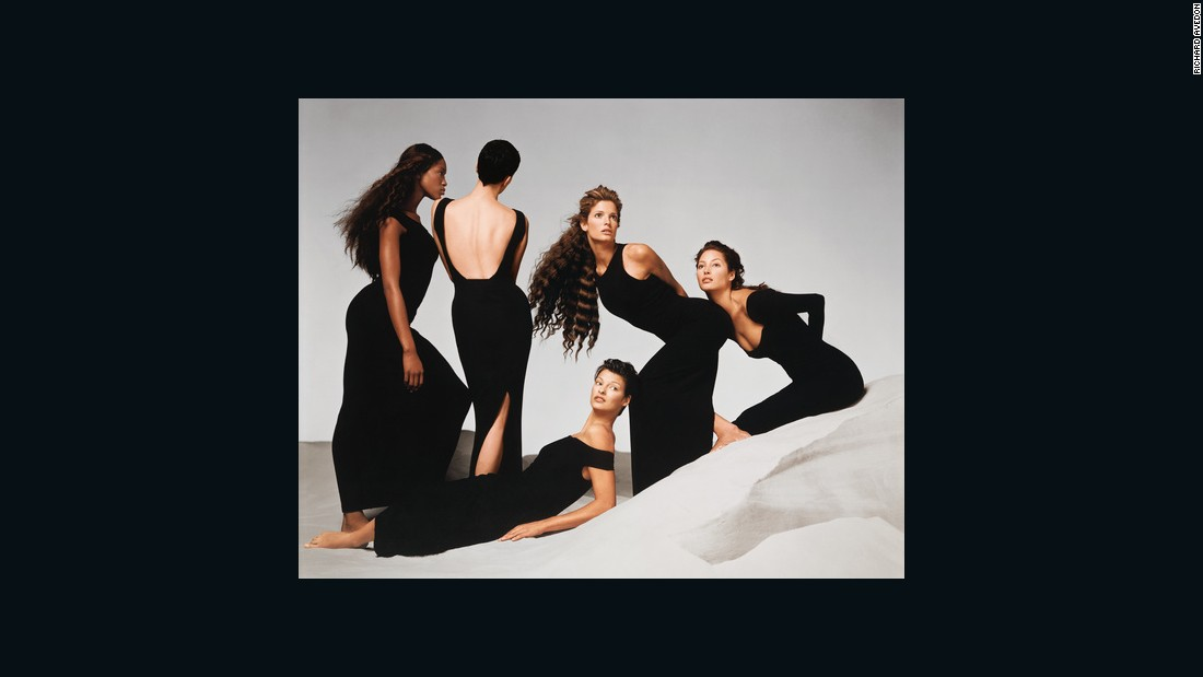 "Showcasing some of the most famous fashion faces of the '90s, this Versace advertisement by Richard Avedon featured the likes of Naomi Campbell, Kristen McMenamy, Linda Evangelista, Stephanie Seymour, and Christy Turlington. The image is <a href=""http://www.vogue.co.uk/suzy-menkes/2014/11/suzy-menkes-avedon-gagosian-versace"" target=""_blank"">said</a> to have captured the epitome of the ""power-woman era"" which celebrated ""feminist energy"" and androgyny."
