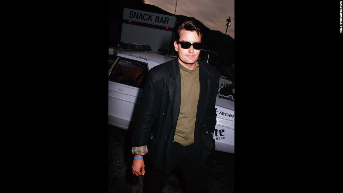 "By the mid-'90s, Sheen was as famous for being a ladies' man as he was for being a leading man. Known as ""the Machine,"" he dated porn stars, and though Hollywood madam Heidi Fleiss kept the names of her clients secret, Sheen testified during her tax-evasion trial that he'd used her services. He <a href=""http://www.people.com/people/archive/article/0,,20132664,00.html"" target=""_blank"">also spent time in rehab and was hospitalized for a drug overdose</a>. ""Pray for my boy,"" said his father. ""He has appetites that get him into trouble."""