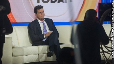 NEW YORK, NY - NOVEMBER 17:  Actor Charlie Sheen waits on the set of the Today Show before formally announcing that he is H.I.V. positive in an interview with Matt Lauer on November 17, 2015 in New York City. Sheen says he learned of his diagnosis four years ago and was announcing it publically to put an end to rumors and extortion.  (Photo by Andrew Burton/Getty Images)