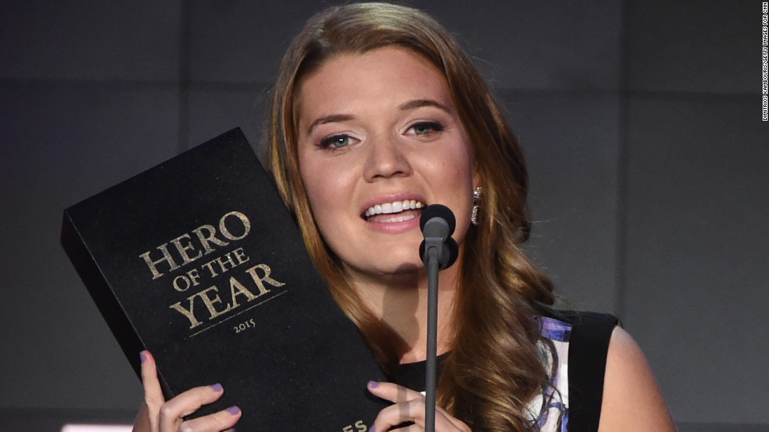 "New Jersey's Maggie Doyne -- who helps women and children in Nepal -- was named CNN's 2015 Hero of the Year November 17 at ""CNN Heroes: An All-Star Tribute"" in New York."