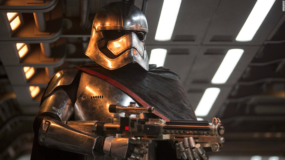 "<strong>Captain Phasma</strong> (Gwendoline Christie), a chrome-wearing stormtrooper from the First Order. Christie is one of numerous ""Game of Thrones"" cast members to feature in the film, including Max von Sydow as Lor San Tekka."