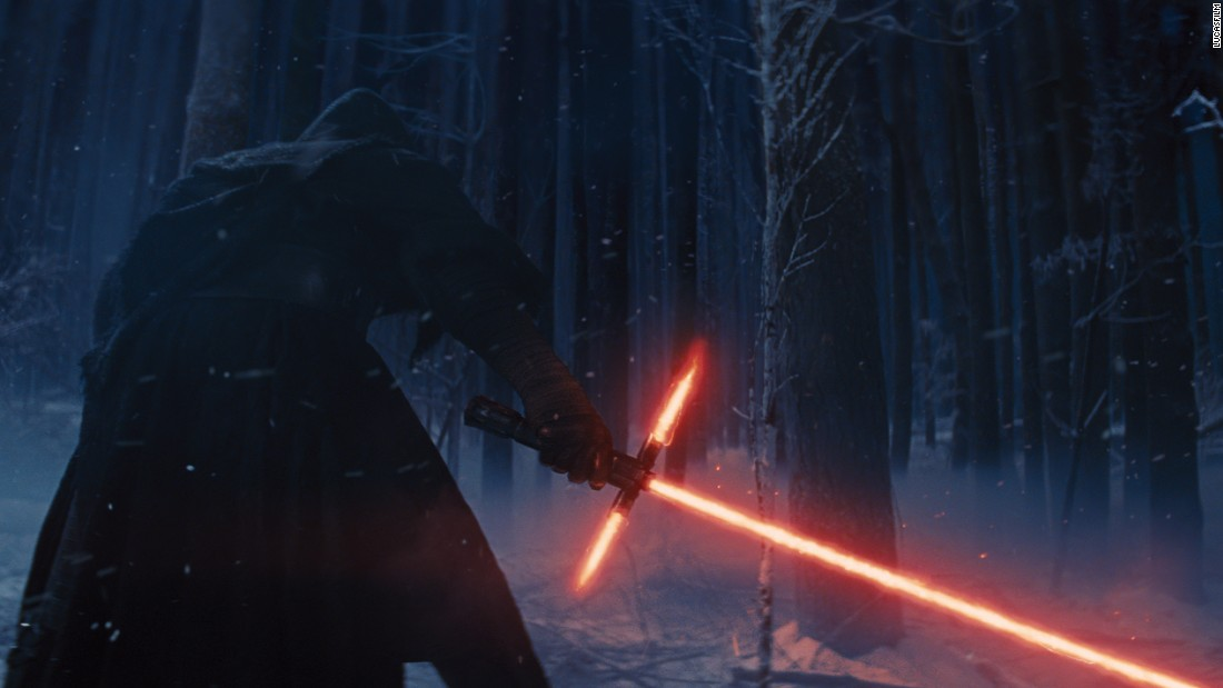"Yeah, it looks cool, but it makes no sense to have crossguards on a lightsaber unless you're looking for trouble and a trip to the galactic emergency room. The Internet was set ablaze with controversy and ridicule over Kylo Ren's unorthodox design, but we can clarify this for you: The crossguard blades, called quillons, are actually ""raw power vented from the primary central blade,"" according to a <a href=""https://www.reddit.com/r/StarWarsLeaks/comments/3so9n4/kylo_ren_lightsaber_description/"" target=""_blank"">plaque</a> that recently appeared in a props and replicas exhibition at Disneyland. (They probably know.)"